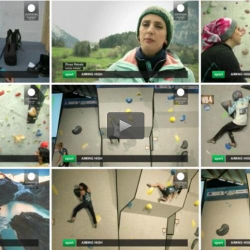 بانوي سنگ نورد ايراني: آرزويم رقابت در المپيك است + ویدیو