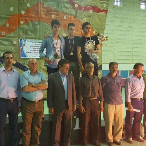 نفرات برتر شانزدهمین دوره مسابقات سنگنوردی قهرمانی کشور«سرطناب» جوانان