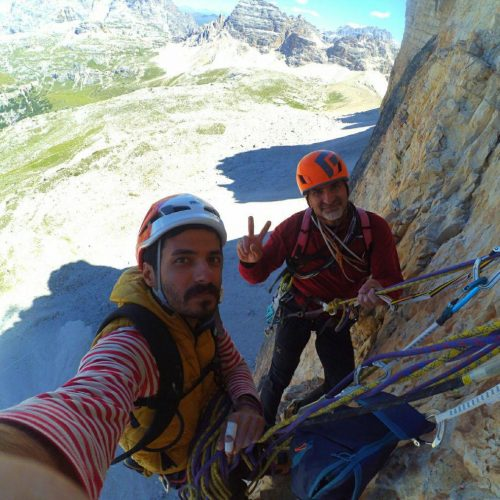 «سنگنوردان گیلانی» صعود دیوراه شمالی ایتالیا
