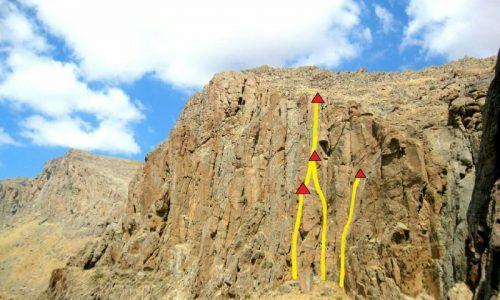 گشایش دو مسیر بلند بر دیواره هرگلان شهرستان عجبشیر
