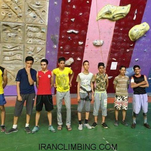 مسابقات المپیاد کرمانیان در رشته سنگنوردی ماده سختی مسیر و سرعت نونهالان و نوجوانان دختر و پسر