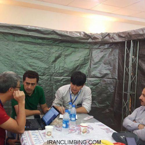 جلسه بررسی میزبانی مسابقات سنگنوردی بزرگسالان آسیا در ایران ۲۰۱۷