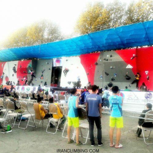 نتایج کلی روز اول مسابقات سنگنوردی قهرمانی آسیا