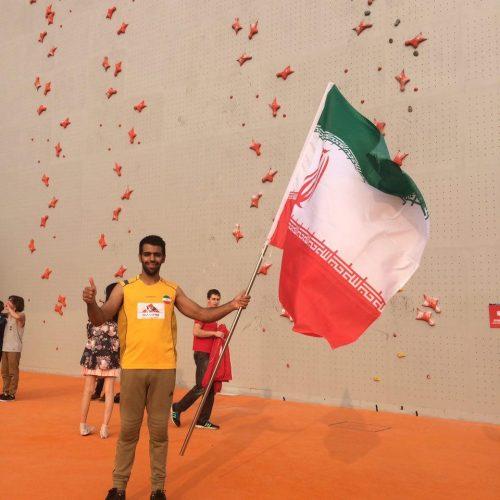 حسین فامیل روحانی؛ تنها شرکت کننده ایران در مسابقات سنگنوردی دانشجویان جهان