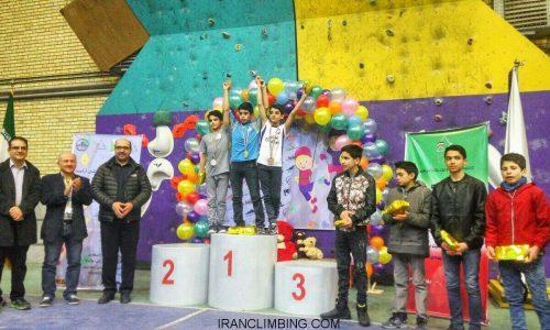 نتایج کلی سومین دوره مسابقات سنگ نوردی جام فجر نونهالان و نوجوانان