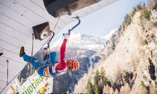 فیلم: صعود محمدرضا صفدریان در مسابقات یخ نوردی قهرمانی جهان ـ فرانسه