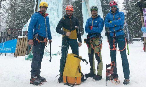 حضور ۴ نفر از طراحان صعودهای ورزشی در دوره طراحی مسیر یخنوردی / فرانسه