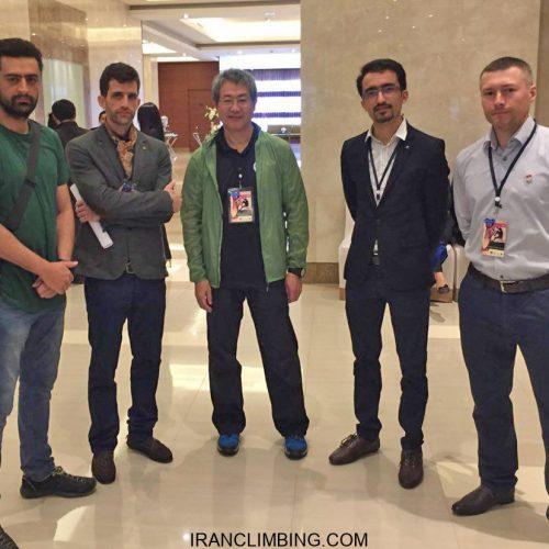 حضور نمایندگان ایران در اجلاس اتحادیه سنگنوردی آسیا / بانکوک
