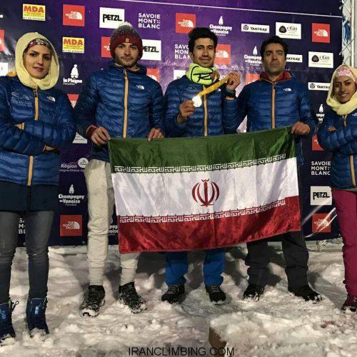 کسب عنوان سوم رنکینگ تیمی لید و سرعت قهرمانی جهان توسط تیم ملی یخنوردی ایران