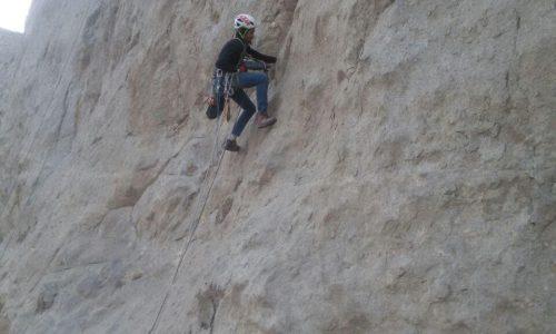 گشایش مسیری به نام اسطوره سنگنوردی «حسن جوادیان» در دیواره پلیس راه اصفهان