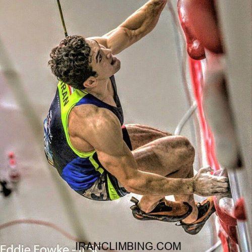 رضا علیپور در مسابقات سنگنوردی جهان با جابجاکردن رکورد جهان طلایی شد
