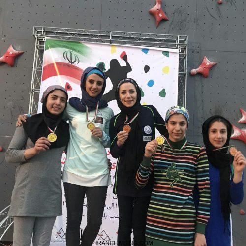 نتایج هفدهمین دوره مسابقات سنگنوردی سرعت قهرمانی کشور / بانوان