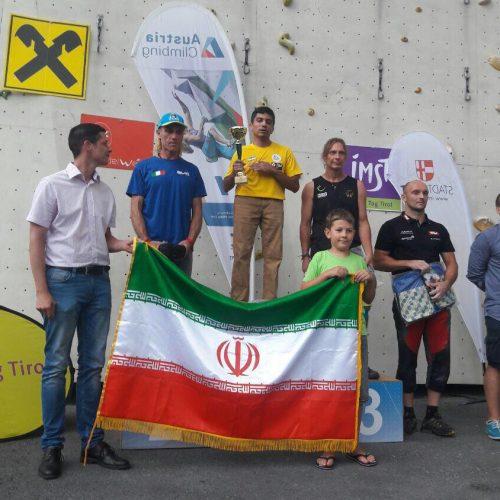 بهنام خلج در مسابقات سنگ نوردی مسترکاپ اتریش به مقام قهرمانی رسید.