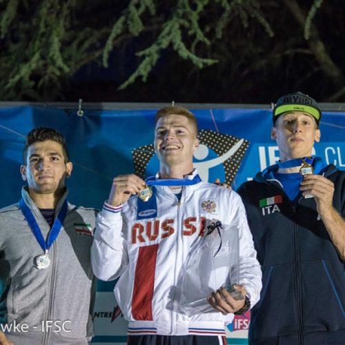 رضا علیپور نایب قهرمان جام جهانی ماده سرعت ایتالیا 2017 شد