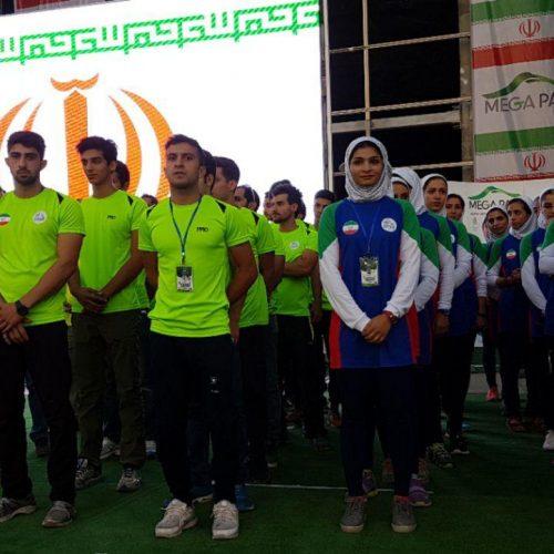 برگزاری مراسم باشکوه افتتاحیه مسابقات سنگنوردی قهرمانی آسیا+عکس