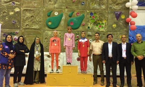نتایج نهائی چهارمین دوره مسابقات سنگنوردی قهرمانی کشور، رده سنی نونهالان و نوجوانان / دختران