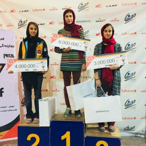 نتایج مسابقات سنگنوردی بولدرینگ بانوان / تهران
