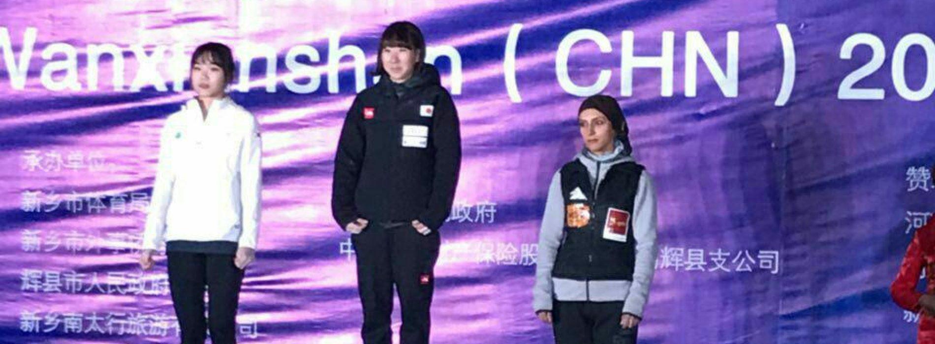 الناز رکابی در رشته لید کاپ آسیا برنزی شد.