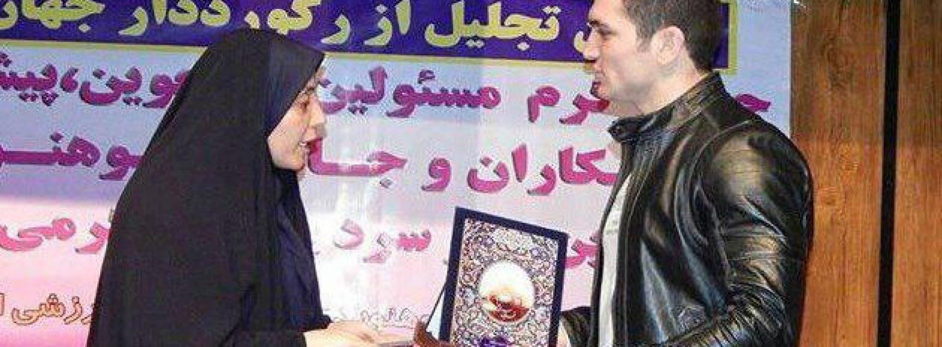 از پهلوان سنگنوردی ایران و پیر کوهنوردی قزوین تجلیل شد