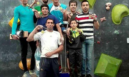 نتایج پنجمین دوره مسابقات سنگنوردی جانبازان و معلولین قهرمانی کشور / بخش مردان