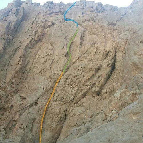 گشایش میسری به نام سولو بر روی رخ شمال شرقی دیواره پلیس راه اصفهان.