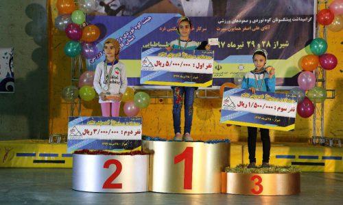 نتایج پنجمین دوره مسابقات سنگنوردی قهرمانی کشوری رده سنی نونهالان نوجوانان بخش دختران -شیراز/تیرماه 97