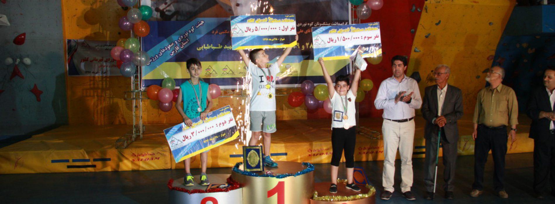نتایج پنجمین دوره مسابقات سنگنوردی قهرمانی کشوری رده سنی نونهالان نوجوانان بخش پسران-شیراز/تیرماه ۹۷