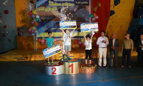نتایج پنجمین دوره مسابقات سنگنوردی قهرمانی کشوری رده سنی نونهالان نوجوانان بخش پسران-شیراز/تیرماه 97