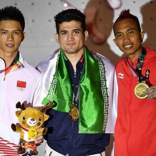 رضا علیپور در سنگ نوردی بازی های آسیایی ۲۰۱۸ اندونزی طلایی شد