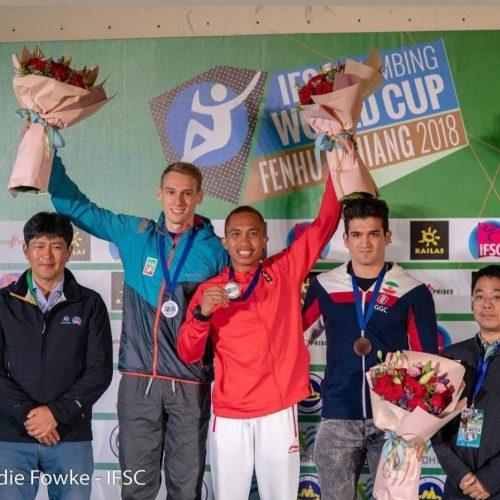 رضا علیپور، مرد برنزی مسابقات جام جهانی سنگنوردی چین