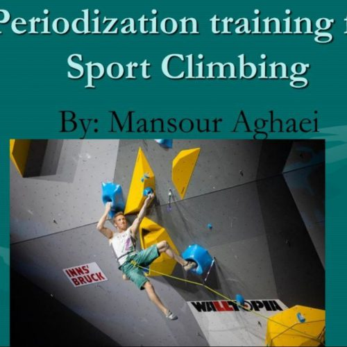 مقاله علم تمرین و برنامه ریزی تمرینات سنگنوردی