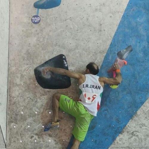 «رضا کلاسنگیان» نفر برتر مسابقات درون اردویی انتخابی تیم ملی سنگنوردی